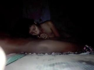 Skinny babe sucking her bf's long cock on the bed sri lanka sex video
